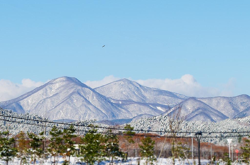 宮城県黒川郡大和町から泉ヶ岳の眺め
