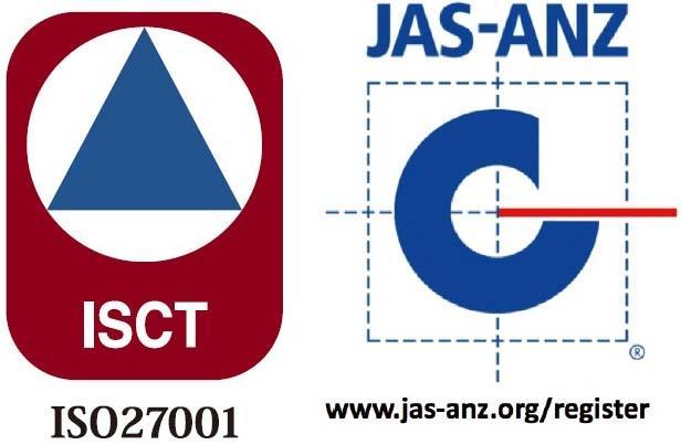 ISCT ISO27001 JAS-ANZ www.jas-anz.org/register